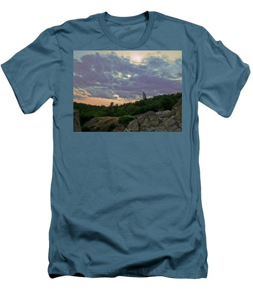 Men's T-Shirt (Slim Fit) featuring the photograph The Tower by Eti Reid