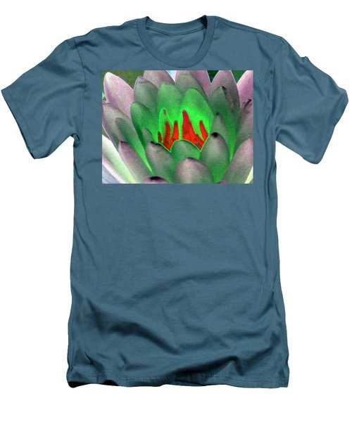 Men's T-Shirt (Slim Fit) featuring the photograph The Water Lilies Collection - Photopower 1123 by Pamela Critchlow