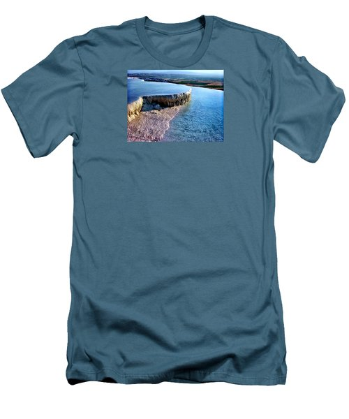 Men's T-Shirt (Slim Fit) featuring the photograph The Water With White Paint by Zafer Gurel