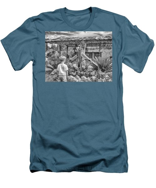 Men's T-Shirt (Slim Fit) featuring the photograph The Watering Hole by Howard Salmon