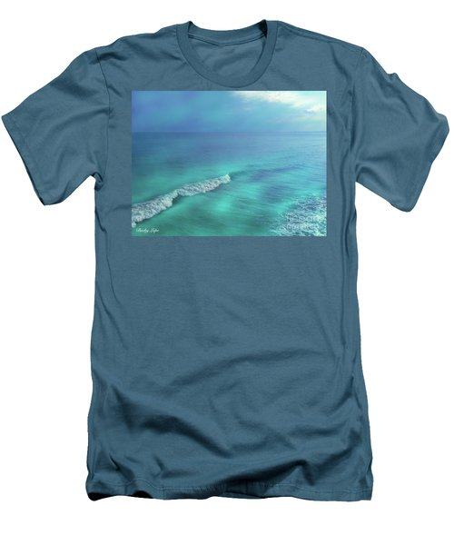 The Wave Men's T-Shirt (Slim Fit) by Becky Lupe