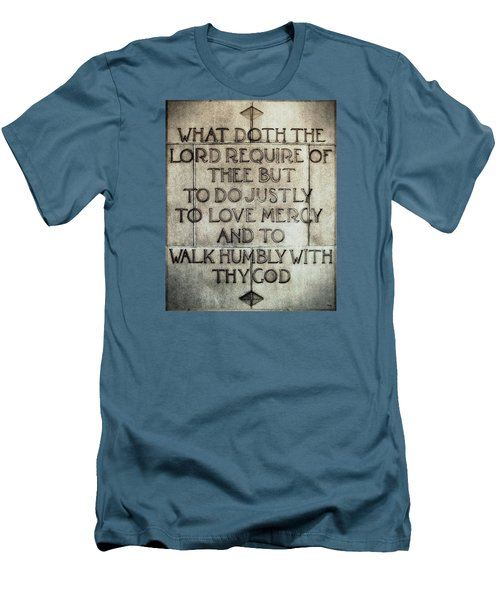 Men's T-Shirt (Slim Fit) featuring the photograph The Writing Is On The Wall by Glenn McCarthy Art and Photography