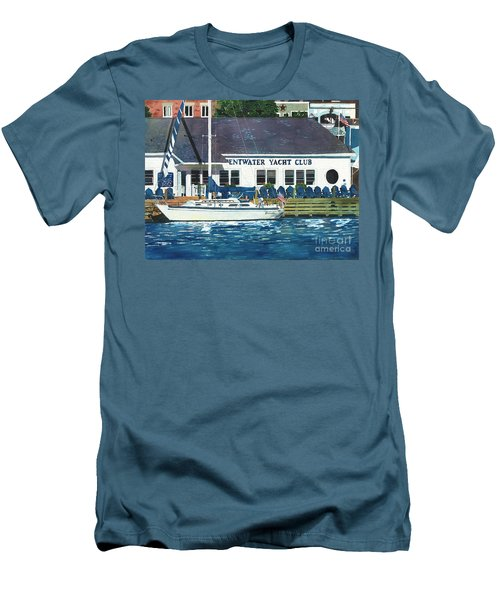 The Yacht Club Men's T-Shirt (Slim Fit) by LeAnne Sowa