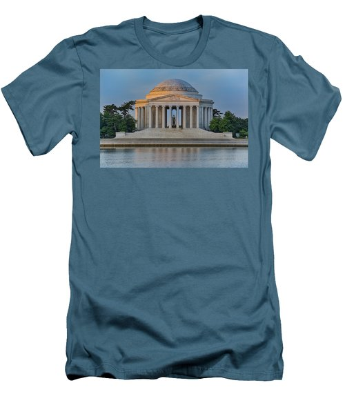 Men's T-Shirt (Slim Fit) featuring the photograph Thomas Jefferson Memorial At Sunrise by Sebastian Musial