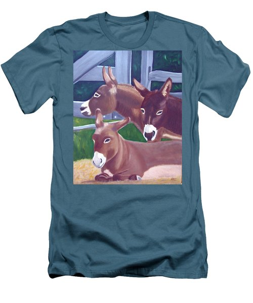 Three Donkeys Men's T-Shirt (Athletic Fit)