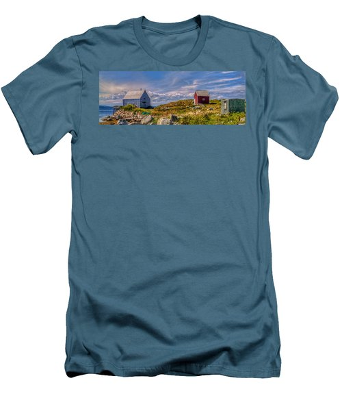 Three Shacks By The Sea Men's T-Shirt (Athletic Fit)