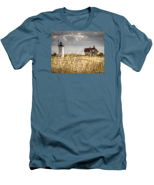 Race Point Light Through The Grass Men's T-Shirt (Slim Fit) by Brian Caldwell