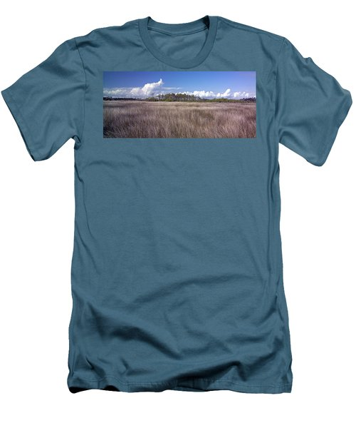 Men's T-Shirt (Slim Fit) featuring the photograph Tidal Marsh On Roanoke Island by Greg Reed