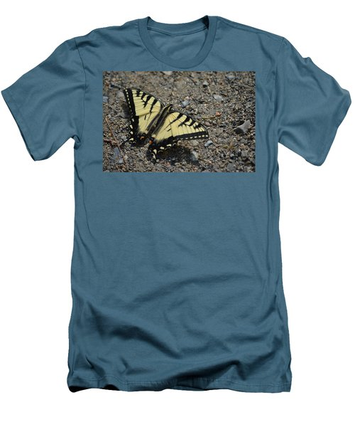 Men's T-Shirt (Slim Fit) featuring the photograph Tiger Swallowtail by James Petersen