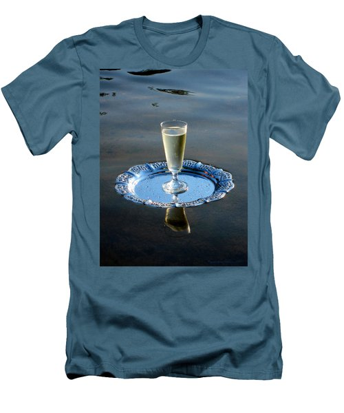 Men's T-Shirt (Slim Fit) featuring the photograph Toast To Life by Leena Pekkalainen