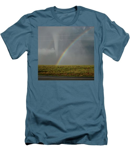 Men's T-Shirt (Slim Fit) featuring the photograph Tornado And The Rainbow by Ed Sweeney