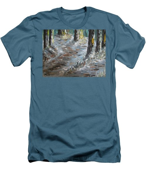 Men's T-Shirt (Slim Fit) featuring the painting Touch Of Christmas by Teresa White