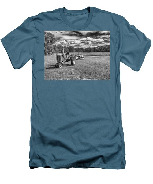 Men's T-Shirt (Slim Fit) featuring the photograph Tractors by Howard Salmon