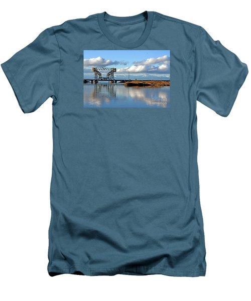 Men's T-Shirt (Slim Fit) featuring the photograph Train Bridge by Chris Anderson