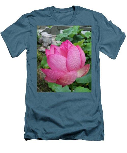 Tranquil Lotus  Men's T-Shirt (Slim Fit) by Lingfai Leung