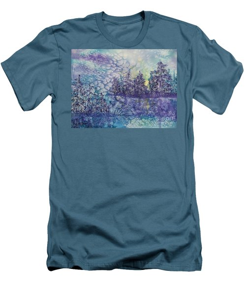 Men's T-Shirt (Slim Fit) featuring the painting Tranquility by Ellen Levinson
