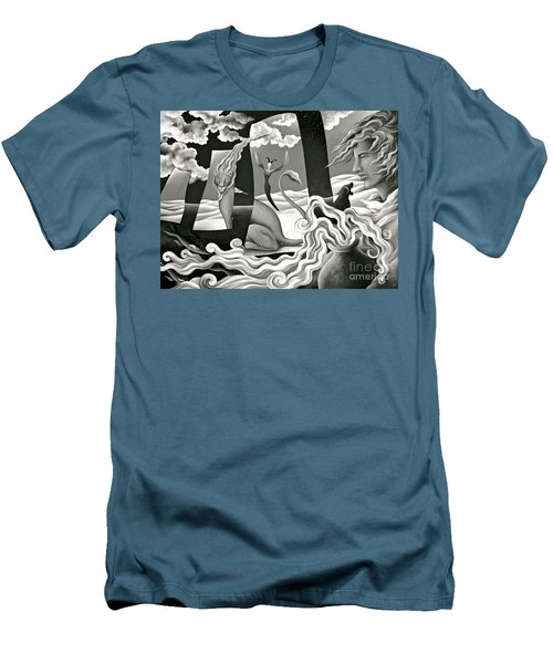 Traveler's Fortune Men's T-Shirt (Slim Fit) by Gem S Visionary