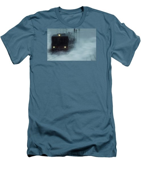Traveling In The Snow... Men's T-Shirt (Slim Fit) by Vittorio Chiampan