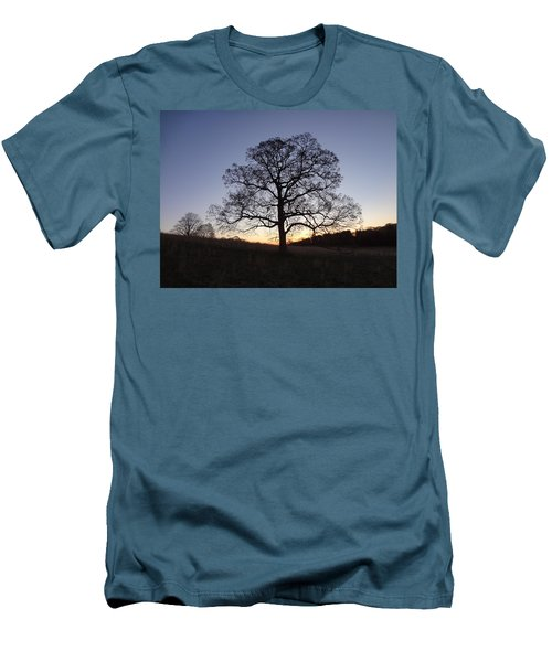 Tree At Dawn Men's T-Shirt (Slim Fit) by Michael Porchik