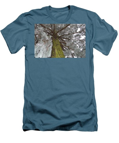 Men's T-Shirt (Slim Fit) featuring the photograph Tree In Winter by Felicia Tica
