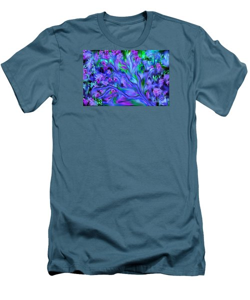 Men's T-Shirt (Slim Fit) featuring the digital art Tree Of Peace And Serenity by Sherri  Of Palm Springs