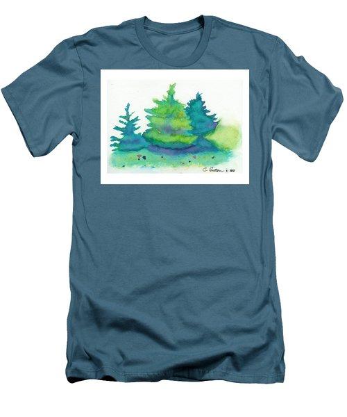 Trees 2 Men's T-Shirt (Slim Fit) by C Sitton