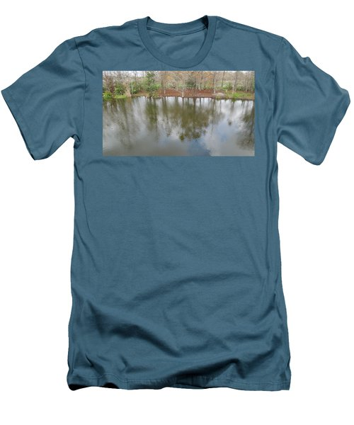 Men's T-Shirt (Slim Fit) featuring the photograph Trees And Water by Ron Davidson
