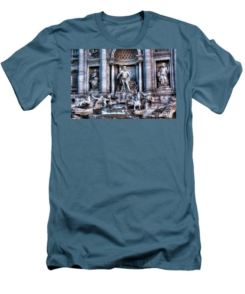 Men's T-Shirt (Slim Fit) featuring the photograph Trevi Fountain by Joe  Ng