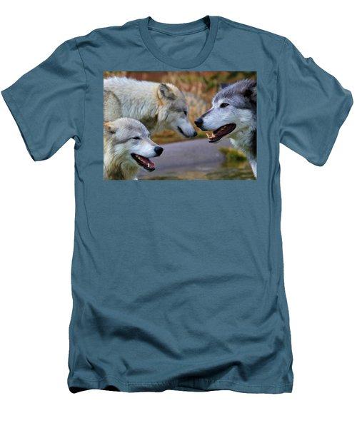 Triple Take Painted Men's T-Shirt (Slim Fit) by Athena Mckinzie