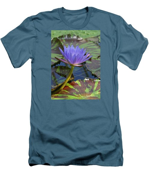 Tropic Water Lily 15 Men's T-Shirt (Slim Fit) by Rudi Prott