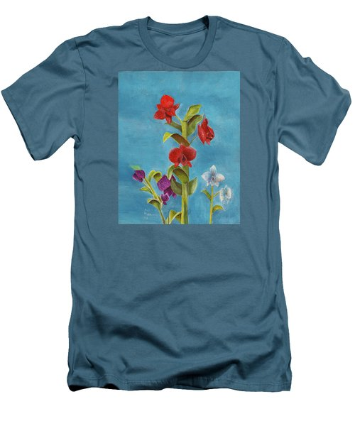 Men's T-Shirt (Athletic Fit) featuring the painting Tropical Flower by Thomas J Herring