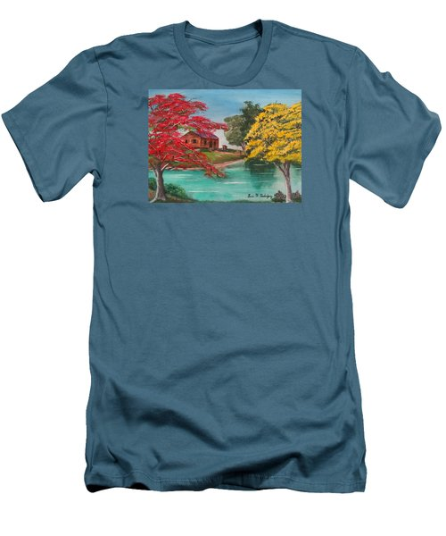 Tropical Lifestyle Men's T-Shirt (Slim Fit) by Luis F Rodriguez