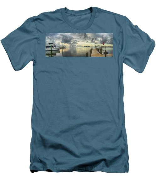 Men's T-Shirt (Slim Fit) featuring the digital art Tropical Winds In Orange Beach by Michael Thomas