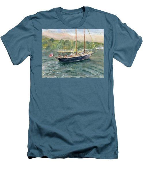 True Love Schooner Men's T-Shirt (Athletic Fit)