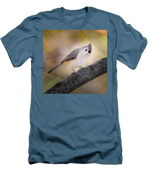 Tufted Titmouse Men's T-Shirt (Slim Fit) by Bill Wakeley