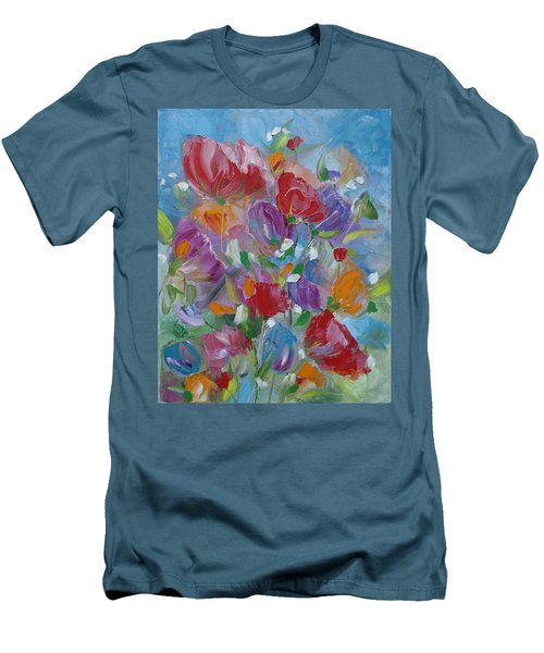 Tulip Symphony Men's T-Shirt (Slim Fit) by Judith Rhue