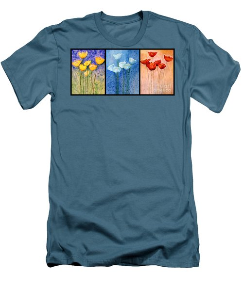 Tulips Collage  Men's T-Shirt (Athletic Fit)
