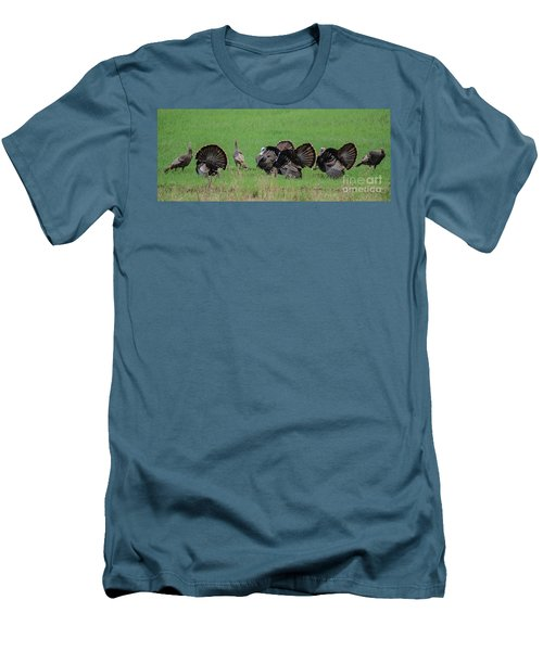 Turkey Mating Ritual Men's T-Shirt (Athletic Fit)