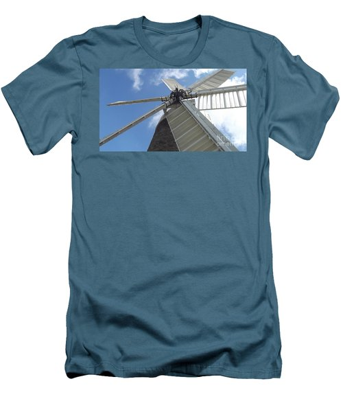 Men's T-Shirt (Slim Fit) featuring the photograph Turning In The Wind by Tracey Williams