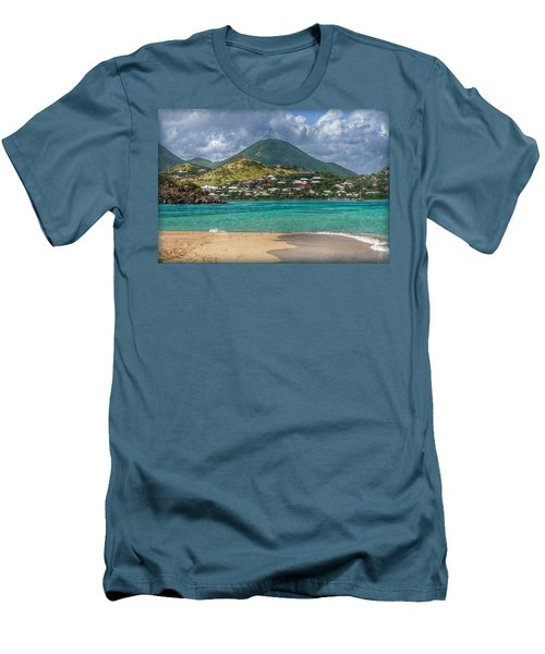 Men's T-Shirt (Slim Fit) featuring the photograph Turquoise Paradise by Hanny Heim