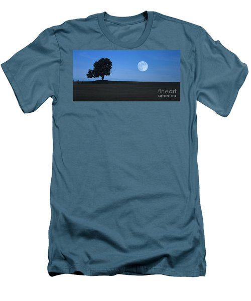 Men's T-Shirt (Slim Fit) featuring the photograph Twilight Solitude by Sharon Elliott