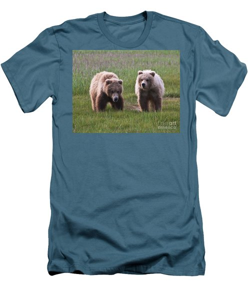 Twin Bear Cubs Men's T-Shirt (Athletic Fit)