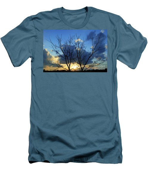 Twin Trees Men's T-Shirt (Athletic Fit)