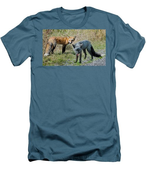 Two Fox Seattle Men's T-Shirt (Slim Fit) by Jennie Breeze
