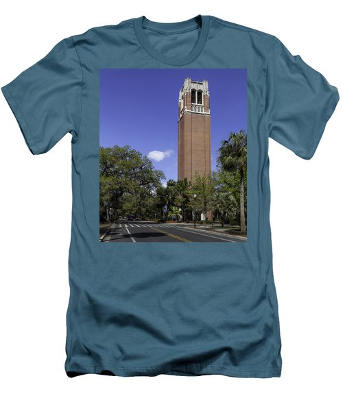 Uf Century Tower And Newell Drive Men's T-Shirt (Slim Fit) by Lynn Palmer