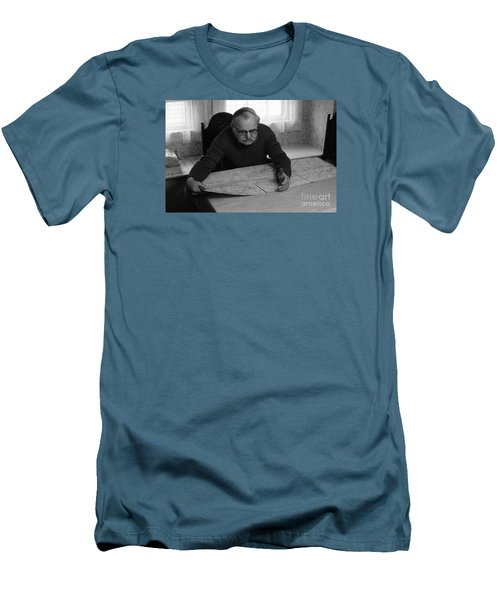 Men's T-Shirt (Slim Fit) featuring the photograph Uncle Charles by Steven Macanka