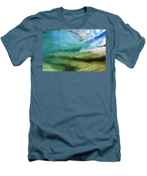 Underwater Wave Curl Men's T-Shirt (Slim Fit) by Vince Cavataio - Printscapes