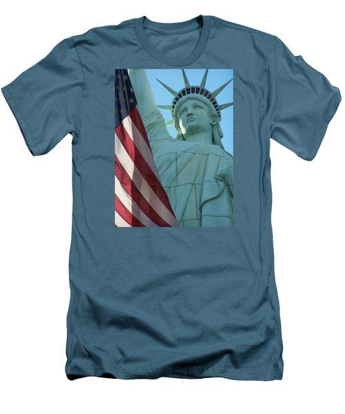 United States Of America Men's T-Shirt (Slim Fit) by Jewels Blake Hamrick