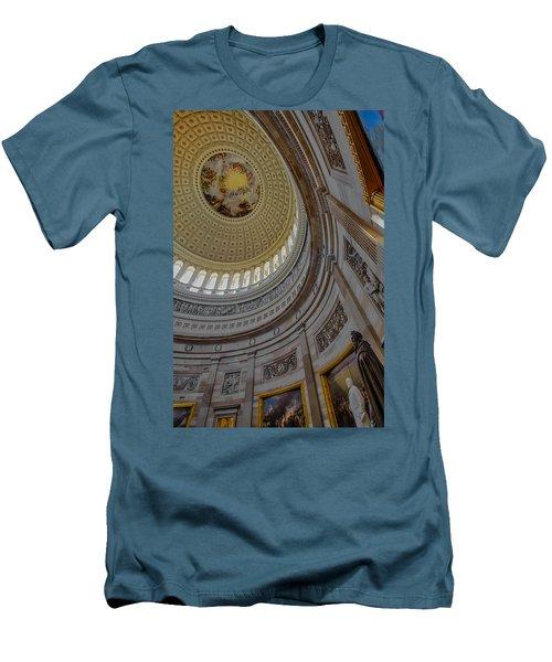 Unites States Capitol Rotunda Men's T-Shirt (Slim Fit) by Susan Candelario
