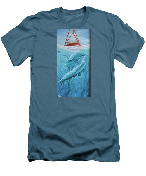 Men's T-Shirt (Slim Fit) featuring the painting Uphoria by Dianna Lewis